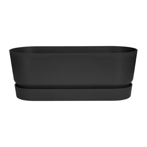 Parvekelaatikko Greenville trough long - musta 50cm